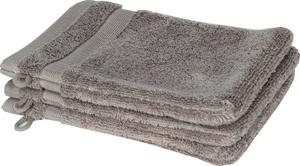 Schöner Wohnen Cuddly-H Waschhandschuh 3er Set, 16x21cm, stein