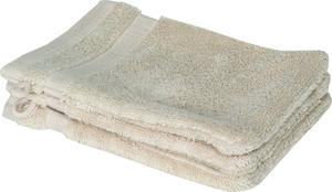 Schöner Wohnen Cuddly-H Waschhandschuh 3er Set, 16x21cm, sand