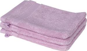 Schöner Wohnen Cuddly-H Waschhandschuh 3er Set, 16x21cm, rose
