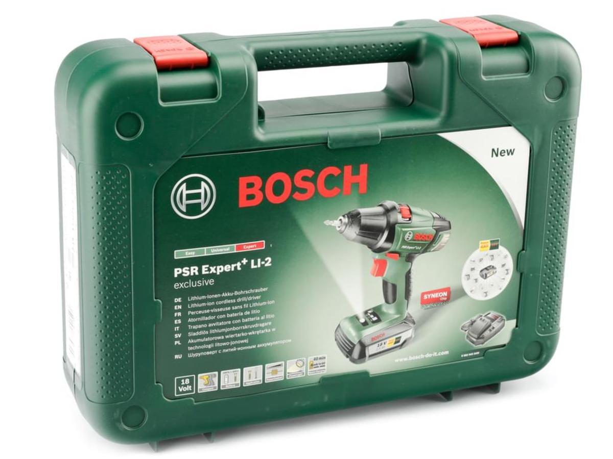 Bild 2 von Bosch Li-Ion Akku Bohrschrauber PSR Expert+ LI-2 + X-Line Werkzeugset 51-tlg.