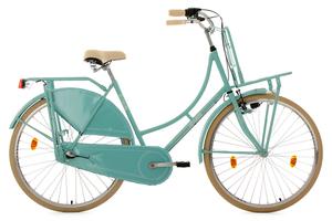 Hollandrad 28'' Tussaud 3-Gang mint mit Frontgepäckträger RH 54 cm KS Cycling, Türkis