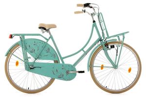 Hollandrad 28'' Tussaud 3-Gang matt-mint mit Frontgepäckträger RH 54 cm KS Cycling