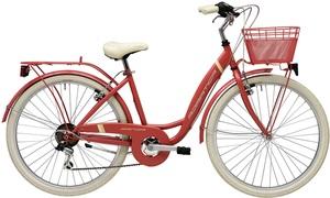 26 Zoll Damen City Fahrrad 6 Gang Adriatica Panda, Farbe:rot