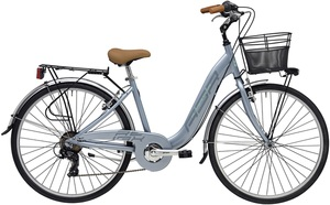 26 Zoll Damen City Fahrrad 6 Gang Adriatica Relax, Farbe:grau