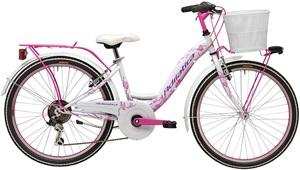 24 Zoll Mädchen Fahrrad 6 Gang Adriatica CTB, Farbe:weiß-pink