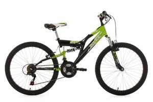 Kinderfahrrad Mountainbike Fully 24'' Zodiac grün-schwarz RH 38 cm KS Cycling