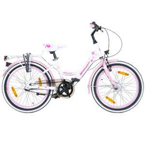Galano Blossom 20 Zoll Kinderfahrrad Mädchenrad Jugendrad Cityrad, Farbe:weiss/pink