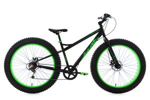 Mountainbike Fatbike 26'' schwarz-grün KS Cycling