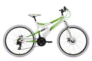 Mountainbike Fully 26'' Topeka weiß-grün RH 44 cm KS Cycling