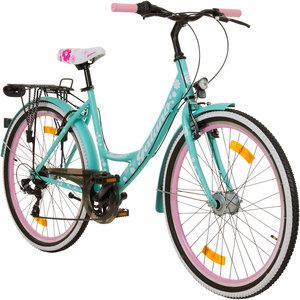 Galano Blossom 26 Zoll Mädchenrad Jugendrad Cityrad Mädchenfahrrad, Farbe:Grün