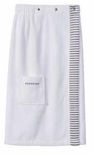Schiesser Damen-Saunakilt 80 x 130 cm, Farbe Weiß