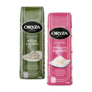 Oryza oder reis-fit Reis-Spezialitäten