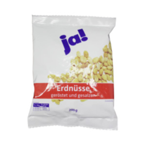 ja! Erdnüsse geröstet & gesalzen