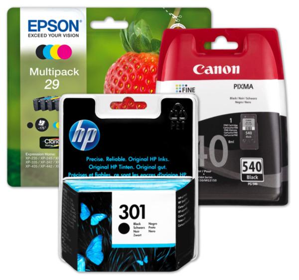 EPSON, HP oder CANON Druckerpatronen