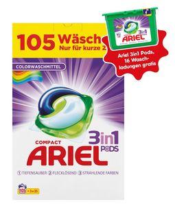 Ariel 3 in 1 Pods Color 105 Waschladungen + 1920683 Ariel 3in1 PODS Colorwaschmittel 16 Waschladungen gratis