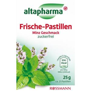 altapharma Frische-Pastillen Minz Geschmack 2.20 EUR/100 g