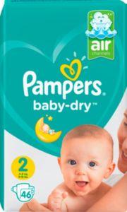 Pampers Baby Dry Gr.2 Mini 3-6kg Sparpack, 46 Windeln