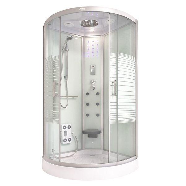Home Deluxe Duschkabine White Pearl 90 x 90 cm