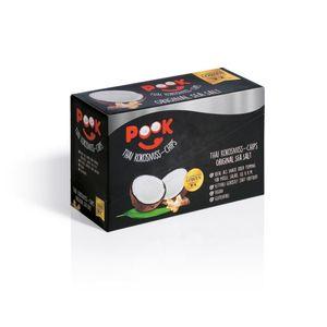PooK Kokosnuss-Chips Original Sea Salt 8-er-Set (8x je 40g)