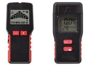 POWERFIX® Multifunktionsdetektor / Bau-/Holzfeuchtmessgerät