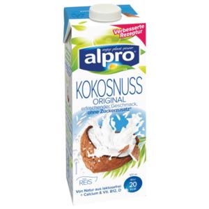Alpro Kokosnuss- oderMandeldrink