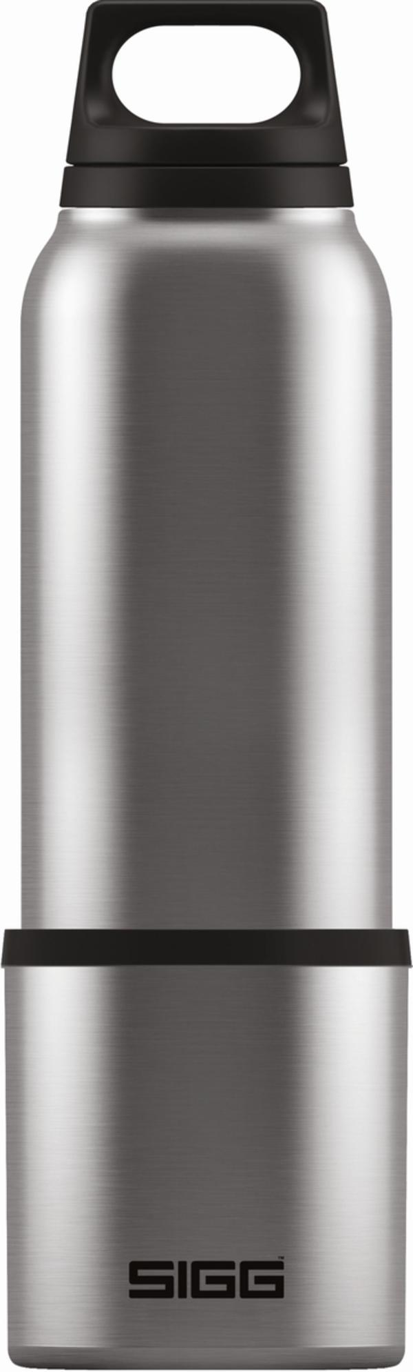 SIGG Trinkflasche Hot & Cold Brushed mit Cup 0.75l