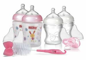 Nuby New Born Starter Set Pink