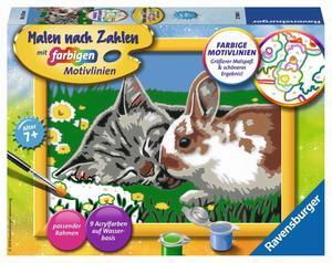 Malen nach Zahlen Kätzchen und Häschen