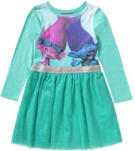 Trolls Kinder Jerseykleid mit Tüllrock Gr. 128/134 Mädchen Kinder