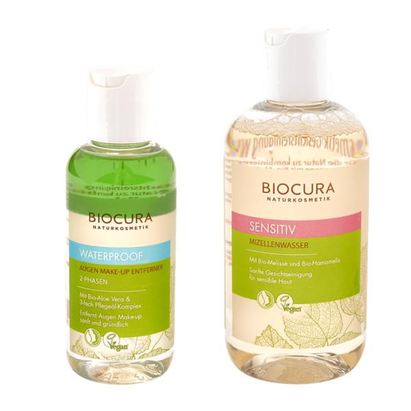 BIOCURA     Mizellenwasser / Augen Make-up Entferner
