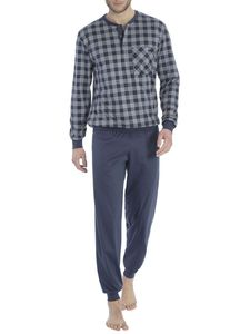 Calida Bündchen-Pyjama, jet grey, grau, XL