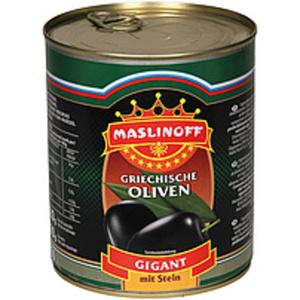 """Oliven mit Stein """"Gigant"""", geschwärzt"""