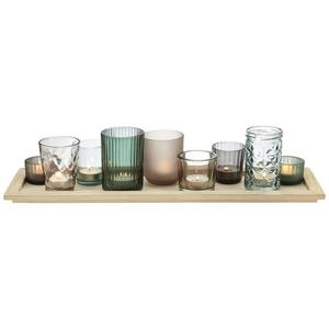 Teelichthalter Sandy Braun/grün/Grau