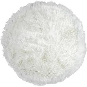Webteppich Teddy Weiß 80cm