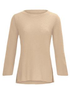 Rundhals-Pullover aus 100% Kaschmir Laura Biagiotti Donna beige