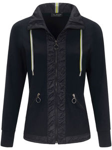 Jersey-Jacke Stehkragen Looxent blau