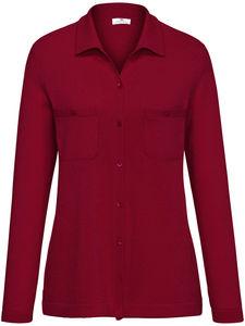 Polo-Strickjacke aus 100% Kaschmir Peter Hahn Cashmere rot