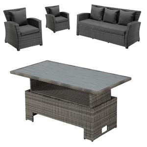 Gartenmöbel-Set Colombo/Hamilton (höhenverstellbar, 2 Sessel, 1 Sofa)