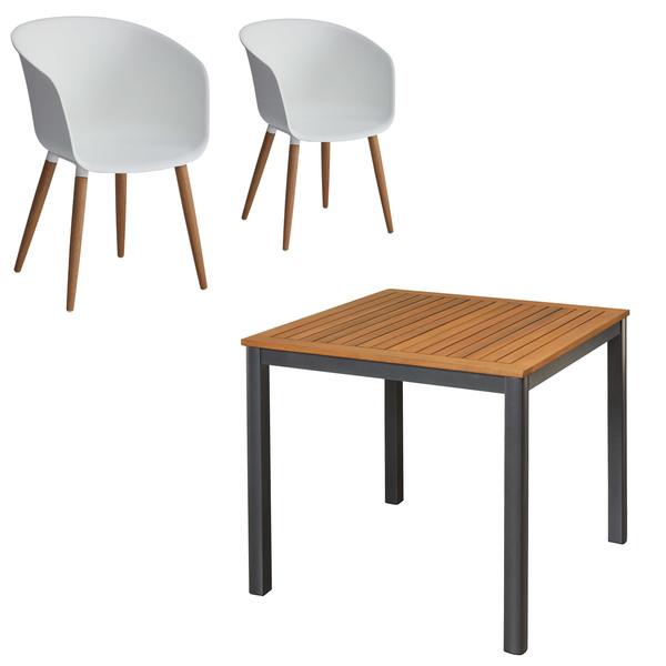 Gartenmobel Set San Francisco Ontario 1 Tisch 2 Stuhle Weiss