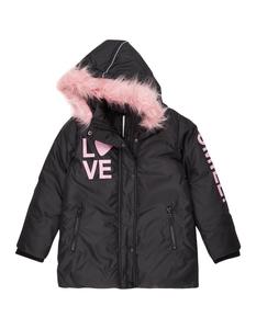 Mädchen Outdoor-Jacke mit Print und Kunstfellbesatz