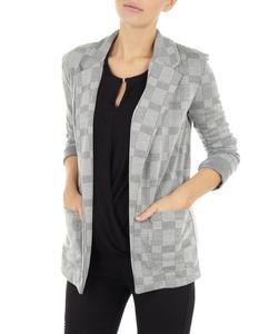 Damen Blazer mit Hahnentritt-Design