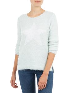 Damen Pullover mit Motiv und Zierperlen