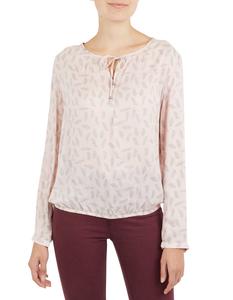 Damen Bluse mit Feder-Print