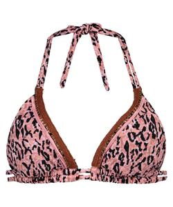 Hunkemöller Triangel-Bikinitop Leopard Lady Rosa