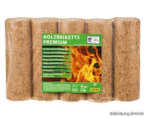 5 Premium Holzbriketts