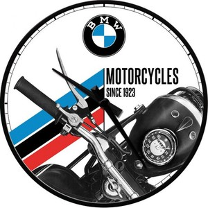 Nostalgic-Art            Wanduhr BMW - Motorcycles Since 1923