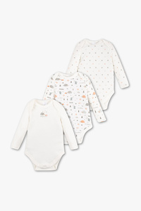 Baby Club         Baby-Body - Bio-Baumwolle - 3er Pack