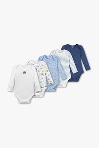 Baby Club         Baby-Body - Bio-Baumwolle - 5er Pack