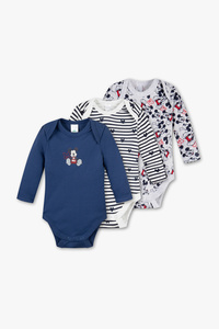 Disney Baby         Micky Maus - Baby-Body - Bio-Baumwolle - 3er Pack