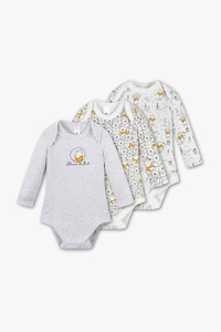 Disney Baby         Winnie Puuh - Baby-Body - Bio-Baumwolle - 3er Pack